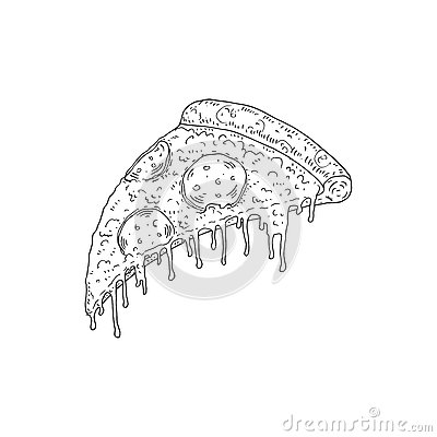 Free Vector Hand Drawn Sketch Of Pizza Pepperoni Stock Images - 77398584