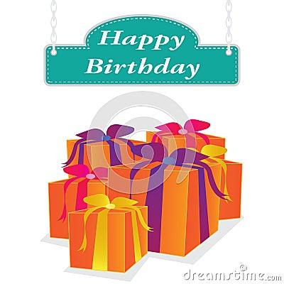 Vector happy birthday label