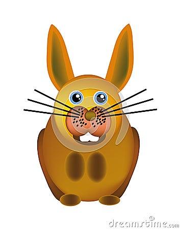 Vector happy bunny