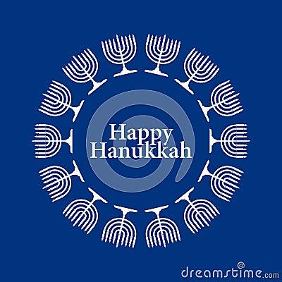 Vector Happy Hanukkah Background