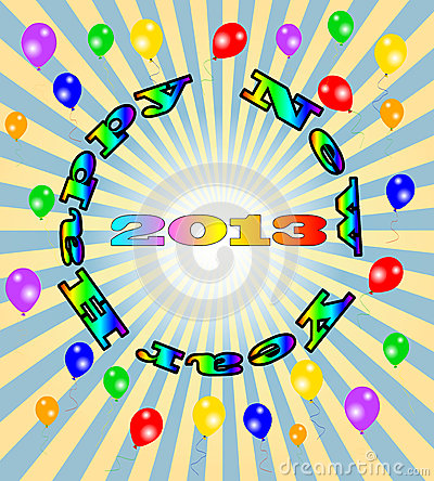 Vector Happy New Year - 2013 colorful background