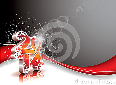 Vector Happy New Year 2014 colorful celebration background