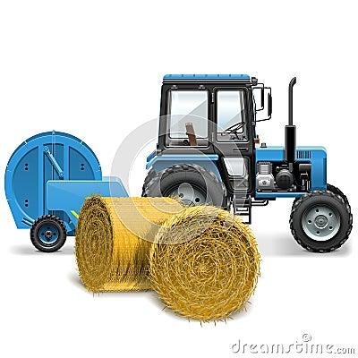 Free Vector Hay Baler Concept Royalty Free Stock Photos - 41178398