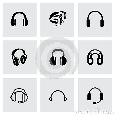 Free Vector Headphone Icon Set Stock Photo - 53018940