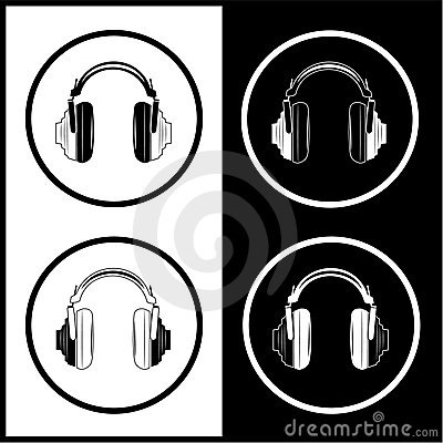 Vector headphones icons