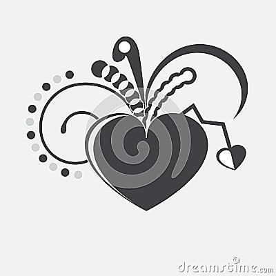 Vector heart.