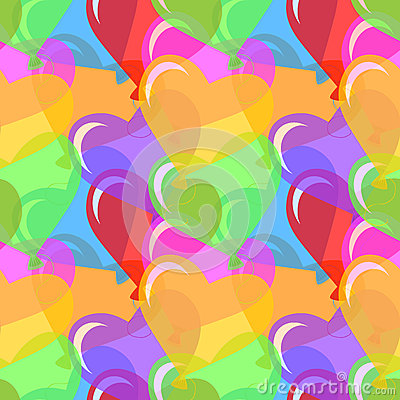 Vector heart shaped balloons background