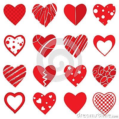 Free Vector Heart Shapes Stock Photography - 47924612