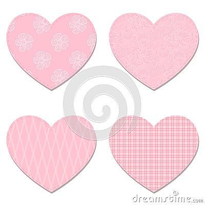 Vector hearts.