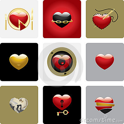 Free Vector Hearts - Set Two Stock Images - 9530974