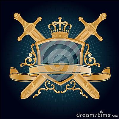 Vector heraldic pattern