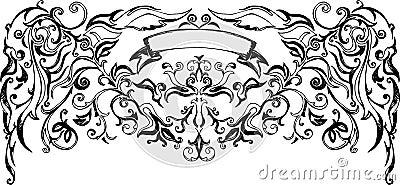 Vector heraldic sign