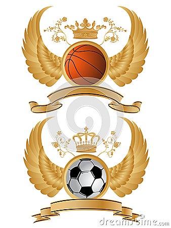 Vector heraldic sport pattern