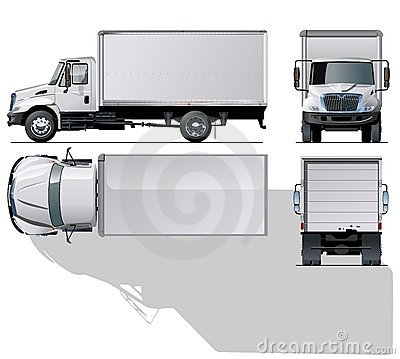 Vector hi-detailed commercial truck