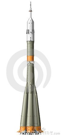 Vector hi-detailed space rocket