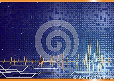 Vector hi-tech background in blue color
