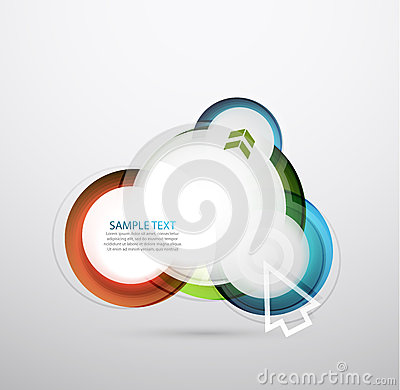 Vector hi-tech bubble banner