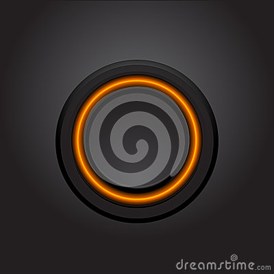 Vector hi-tech light button design