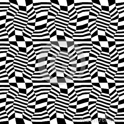 Vector hipster abstract geometry pattern 3d, black and white seamless geometric background Vector Illustration