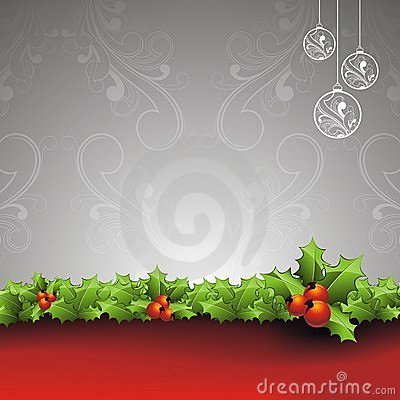 Vector Holliday background with Christmas design.
