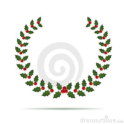Vector Holly Laurel wreath