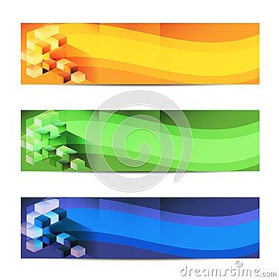 Vector Horizontal Abstract Banner.