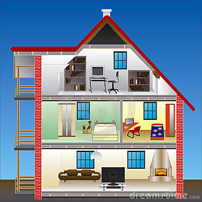 Free Vector House Royalty Free Stock Photography - 6324087