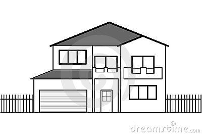 Vector House Drawing Royalty Free Stock Photo Image