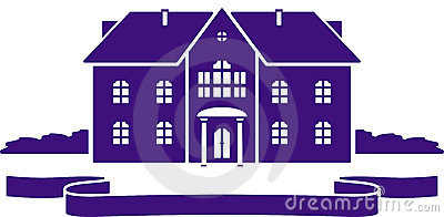 Vector house mansion illustration
