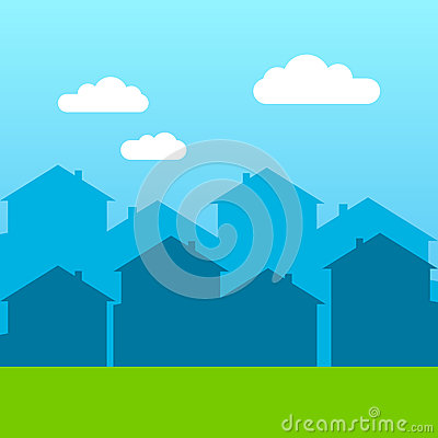 Free Vector House Silhouette Skyscraper Windows Building Roof Stock Photos - 89117863