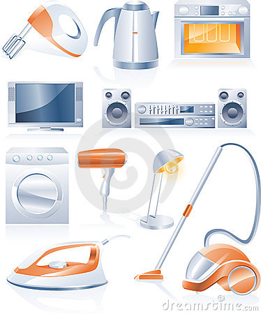 Vector household appliances icons