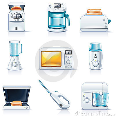 Free Vector Household Appliances Icons. Part 1 Royalty Free Stock Photography - 11886877