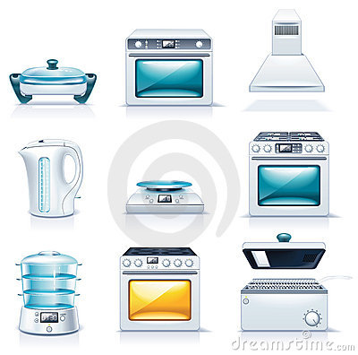 Free Vector Household Appliances Icons. Part 2 Royalty Free Stock Photo - 11886905