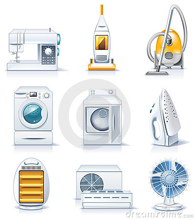Free Vector Household Appliances Icons. Part 4 Royalty Free Stock Images - 11887339