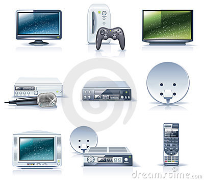 Vector household appliances icons. Part 6
