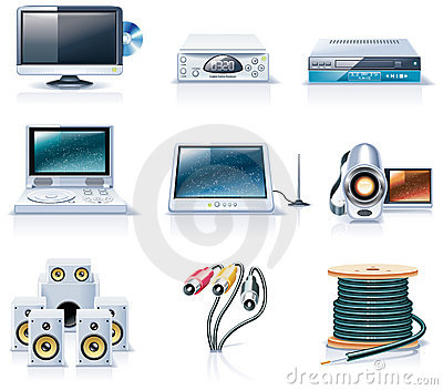 Vector household appliances icons. Part 7
