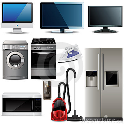 Vector household electronic elements