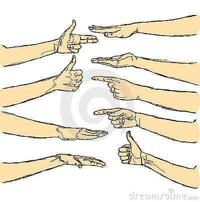 Vector human hands isolated