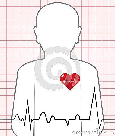 Vector Human Heart Beat