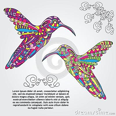 Free Vector Hummingbird Stock Images - 46132124