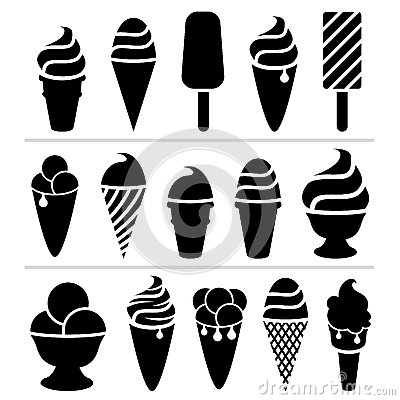 Free Vector Ice-cream Icons Stock Photos - 32184663