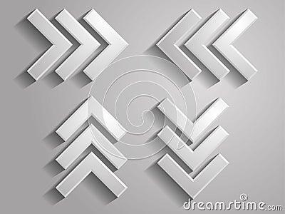 Vector icon of arrows illustration