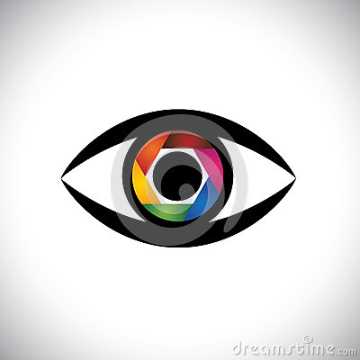 Free Vector Icon Eyes As Camera With Shutter Stock Image - 39118971