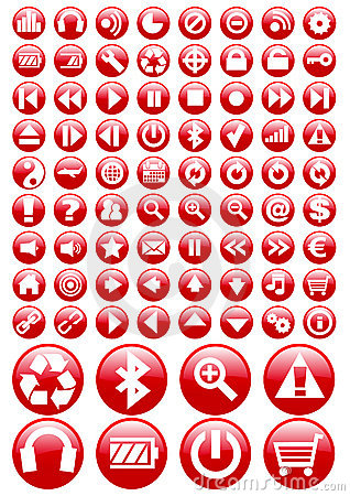 Vector icon set Editorial Image