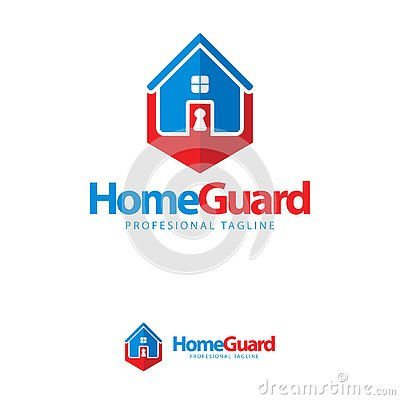 Free Vector, Icon, Symbols Home Guard Key Logo Design Template Royalty Free Stock Photo - 135370265
