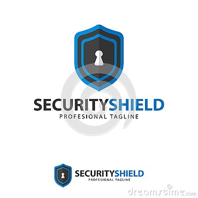 Free Vector, Icon, Symbols Protect Shield Key Logo Design Template Stock Image - 135370271