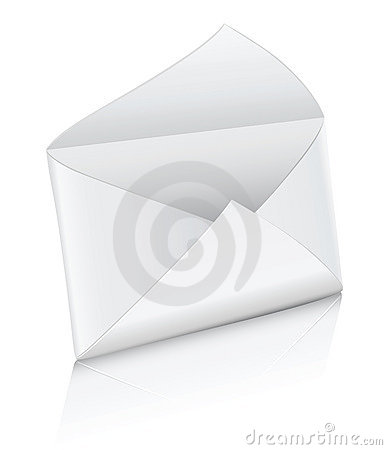 Free Vector Icon White Empty Mail Envelope Opened Royalty Free Stock Image - 5128686