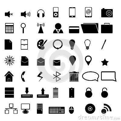 49 vector icons for business or internet.