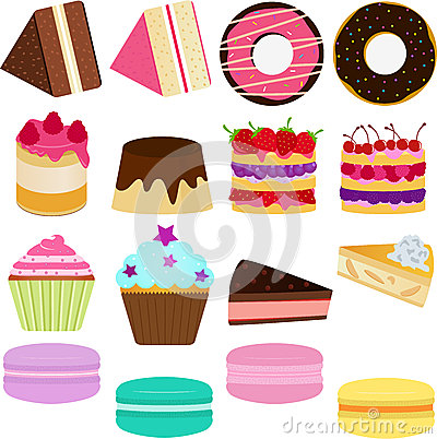 Free Vector Icons : Cute Sweet Cake Stock Image - 25784141