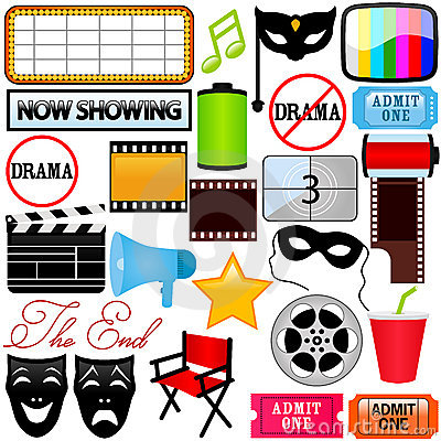 Vector Icons : Drama, Entertainment, Film, movie